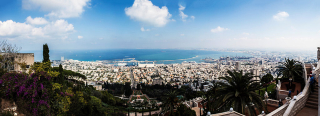 Israel travel panoramic photo, wanderlust